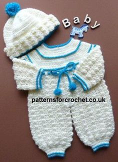 Newborn Boy Romper Crochet Free Pattern Free Baby Crochet Pattern For Rompers And Bobble Hat Bag Crochet, Free Crochet, Crochet Romper, Baby Patterns, Crochet Patterns, Crochet Baby Clothes, Crochet For Boys, Baby Pants, Baby Kind