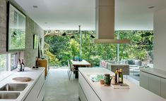 Concrete House Looks Fabulous Nestled Among Trees in Toronto - Curbedclockmenumore-arrownoyes : So in tune with nature