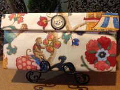 Upcycled unique one of a kind clutch purse by Gobagah on Etsy, $40.00