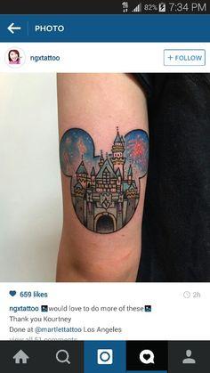 Sleeping Beauty castle mickey mouse head