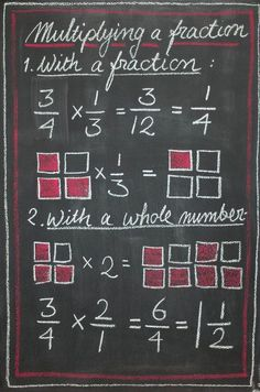 Multiplying a fraction by a fraction and by a whole number (picture only)