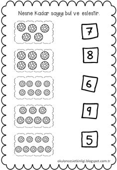 Kindergarten Math Worksheets, Math Literacy, Worksheets For Kids, Fun Math, Educational Activities, Toddler Activities, Malay Language, Weight Loss Juice, Math For Kids