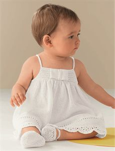 Bergere de France Babies Knitting Patterns Strappy Dress Pattern