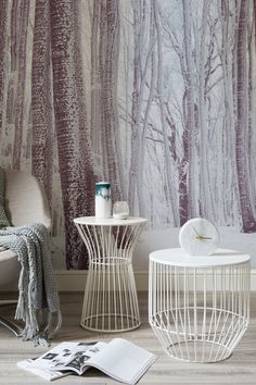 Instil a sense of calm and natural beauty into your home with this enchanting forest wallpaper. Pair with a simple grey and white colour scheme to compliment the look. Perfect for modern living room spaces.
