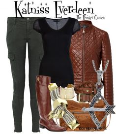 Inspired by Jennifer Lawrence as Katniss Everdeen in The Hunger Games.
