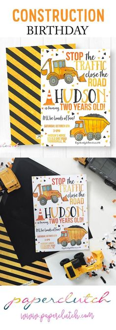 Find the perfect dump truck birthday party invitations for you little boy's construction birthday. This invitation is perfect for any construction theme birthday party. Construction Birthday Invitations, Party Invitations Kids, Construction Birthday Parties, Construction Party, Boy Birthday Parties, 2nd Birthday, Birthday Ideas, October Birthday, Birthday Banners