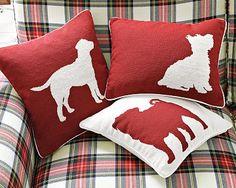 dog silhouette pillows