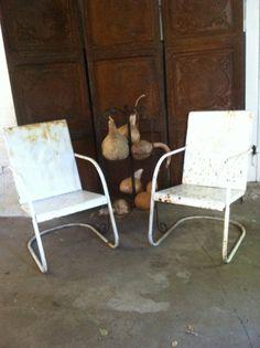 vintage aluminum folding rocker lawn chair wood rocking patio mid