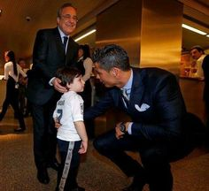 This is 3-year old Haider.  In November, both of his parents were killed in a bomb blast in Beirut.  He survived.  When he was asked what his one wish would be, he said he wanted to meet his hero, Cristiano Ronaldo.  Today, it happened.