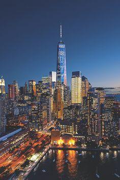 "visualechoess: ""Manhattan as you've never seen before... - by: Ilja Mašík """