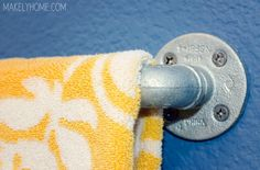 nice idea for a towel rack - especially if using galvanized sink and or tin on the walls