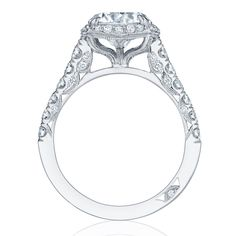 Tacori Engagement Rings Petite Crescent Halo 0.77ctw is absolutely breathtaking with accent diamonds. Shop now.
