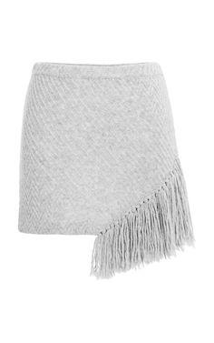Shop Grey Melange Fringe Skirt by Thakoon Addition for Preorder on Moda Operandi