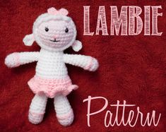 Ravelry: Lambie (Doc McStuffins) Amigurumi Crochet Pattern pattern by Allison McDonough Crochet Crafts, Crochet Dolls, Crochet Baby, Crochet Projects, Crocheted Toys, Amigurumi Toys, Amigurumi Patterns, Crochet Ideas, Amigurumi