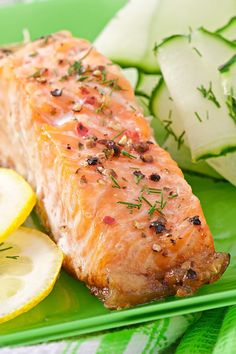 Baked Salmon with Garlic Lemon and Herbs