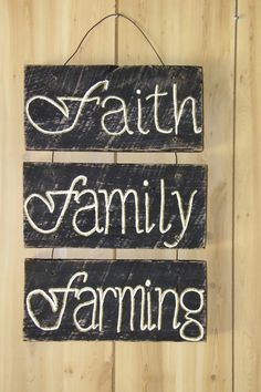 Reclaimed Barn Wood Sign by TreasuresatShiloh on Etsy, $35.00 famili farm, reclaim barn, barn wood signs, reclaimed barn wood, faith, decor project, families, barn wood decorating, barns and farms ideas