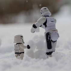 """Out making a snow latern"" Star Wars Episode I returns to AMC Theatres on February 10! http://go.amctheatres.com/star-wars"