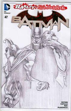 Batman #47 Sketch Variant / Scott Snyder Story. Greg Capullo Pencils.