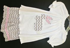Beehave Girl's Chevron Easter Bunny Outfit