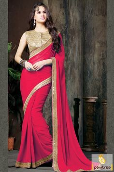 Look forward to an amazing collection of red chiffon designer party saree online with discount offer at Indian store. This beautiful saree magnified with embroidery and jari work with trendy lace border. #sarees, #sari, #saree, #designercollection, #partywearsaree, #weddingwearsaree, #indianweddingsaree, #designersaree, #pavitraafashion More : http://www.pavitraa.in/store/designer-collection/ Call / WhatsApp : +91-76982-34040 E-mail: info@pavitraa.in