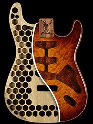 Warmoth Custom Guitar Parts - Chambered Body 30 Day Satisfaction Guarantee Guitar Crafts, Guitar Diy, Guitar Shop, Cool Guitar, Acoustic Guitar, Bass Amps, Cigar Box Guitar, Guitar Building, Custom Guitars