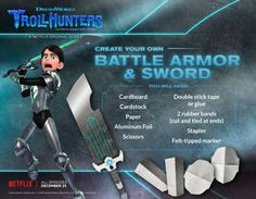 DIY Battle Armor and Sword for Trollhunters