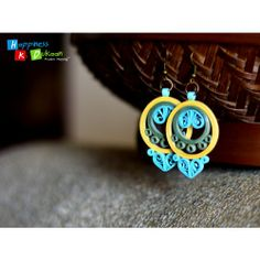 Blue Desire Earings (handmade Paper Jewellery) at Kraftbiz Quilling Studs, Paper Quilling Earrings, Quilling Paper Craft, Quilling Patterns, Quilling Designs, Origami, Paper Jewelry, Paper Beads, Quilled Creations
