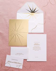 Foil-stamped stationery suite