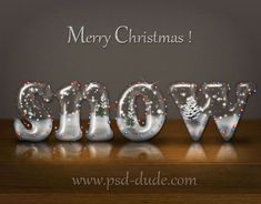 Christmas Snow Photoshop Text Effect - Tutorial by PSD-Dude at http://www.psd-dude.com/tutorials/photoshop.aspx?t=christmas-snow-photoshop-text-effect