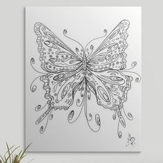 Wolf Canvas, Canvas Wall Art, Wall Art Prints, Canvas Prints, Big Canvas, Canvas Size, Coloring Canvas, Butterfly Coloring Page, Black And White Lines