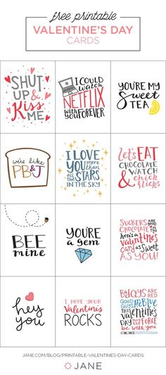 Aren't these cute? They're just one of the many great free printables I have listed on the blog for Valentine's Day cards! 50+ Easy DIY and Printable Valentines http://mysocalledchaos.com/2017/02/50-diy-and-printable-valentines.html