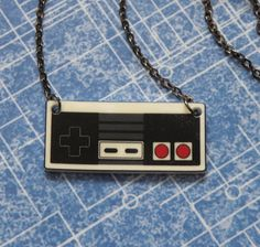GIRL GAMER Nintendo NES Video Game Controller Necklace by PlayBox, £7.00