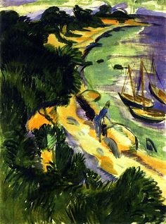 Ernst Ludwig Kirchner, Fehmarn Bay with Boats,...
