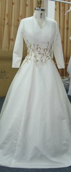 Darius Cordell Long sleeve Silk Bridal Gowns, PLUS SIZE