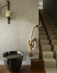 Thom Filicia + Foyer - great stair runner!