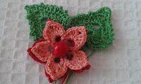 Pasiuni creative: Floare croșetată în două culori