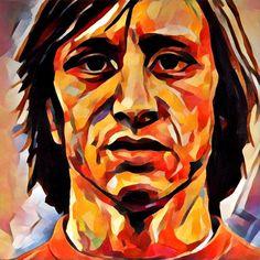 Edited photo from painting of Johan Cruyff www.mynameisarts.com