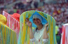 Una de las bailarinas vestidas con un traje típico para la ocasión - Ingrid Irribarren.