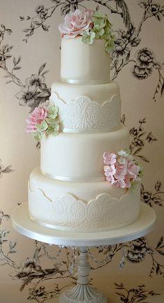 Spring  Wedding Cake in ♥soft pastels