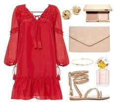 """""""Lady in Red"""" by tasha-m-e ❤ liked on Polyvore featuring 10 Crosby Derek Lam, Dorothy Perkins, Saks Fifth Avenue, South Moon Under, Clarins and Marc Jacobs"""
