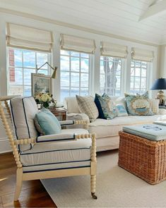 Seaside Style, Traditional House, Happy Monday, Architecture Details, Window Treatments, Dining Bench, Master Bedroom, Couch, Living Room