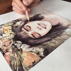 WANT A SHOUTOUT ? ┏━━━━━━━━━━━━━━━━━┓ ! ᴄʟɪᴄᴋ ʟɪɴᴋ ɪɴ ᴍʏ ʙɪᴏ ᴛᴏ ʙᴇ ғᴇᴀᴛᴜʀᴇᴅ ! ┗━━━━━━━━━━━━━━━━━┛… Art And Illustration, Portrait Illustration, Creative Illustration, Inspiration Art, Art Inspo, Art Sketches, Art Drawings, Sketch Drawing, Smile Drawing