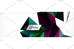 Newsletter Templates, Geometric Background, Low Poly, Vector Design, Mosaic, Abstract, Art, Style, Summary
