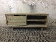 Rustic TV Stand Solid Reclaimed Wood Industrial Distressed Pine Unit Shabby Chic in Home, Furniture & DIY, Furniture, TV & Entertainment Stands | eBay