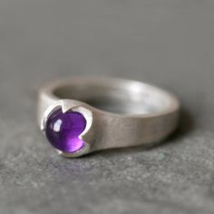 Banded Cab Ring in Sterling Silver with by MichelleChangJewelry