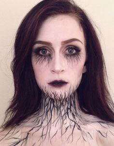 A Halloween makeup DIY that's confusingly beautiful and haunting at the same time