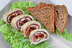 Chicken roll stuffed with cheese, bacon and peppers