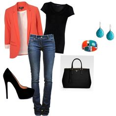Coral and Turquoise, created by katie-hughes-1 on Polyvore