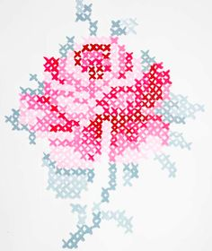Cross Stitch Embroidery Wall Art from Danielle Oakey Interiors