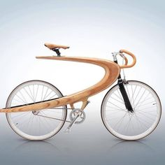 Opus Wood bike by Ecce Cycles . 👊 Discover How to launch your own woodworking Business & 💣a DAY No Questions… Wooden Bicycle, Wood Bike, Bicycle Art, Velo Design, Bicycle Design, Design Design, Funky Design, Pattern Design, Bike Leathers